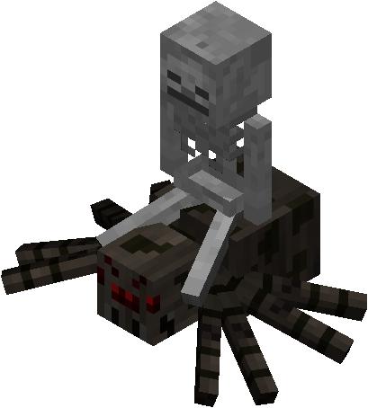 скелет-наездник в майнкрафт